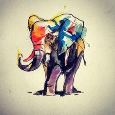 super cute #elephant #tattoo