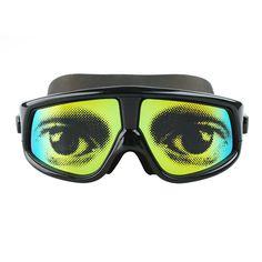 dd19ca512739 Gafas de natación Copozz impresas Patrón Recubrimiento Impermeable Anti  Niebla con bastidor grande Gafas