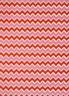 Fuchsia  Gold Chevron Fine Paper - this fabulous take on chevron is a bold look in fuchsia and gold. It's a modern look with dramatic impact.