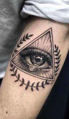 Best Sleeve Tattoos, Sleeve Tattoos For Women, Tattoo Sleeve Designs, Tattoo Designs Men, Tattoos For Guys, Women Sleeve, 3rd Eye Tattoo, Third Eye Tattoos, All Seeing Eye Tattoo