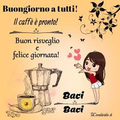 Beautiful Fantasy Art, Learning Italian, Good Morning Quotes, Emoticon, Good Mood, Qoutes, Peanuts Comics, Biscotti, Wolf