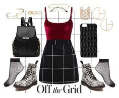 """Grid lines"" by kathrynesker on Polyvore featuring Alix, Dr. Martens, Dagmar, Madewell, New Directions and Miss Selfridge"