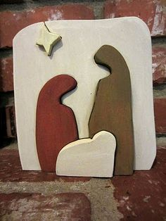 wooden nativity puzzle....love this