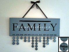 Family Birthday Calendar, ou comment ne plus oublier les anniversaires (tuto inside) | Flora & Gatts bricolent (et cuisinent aussi !!)
