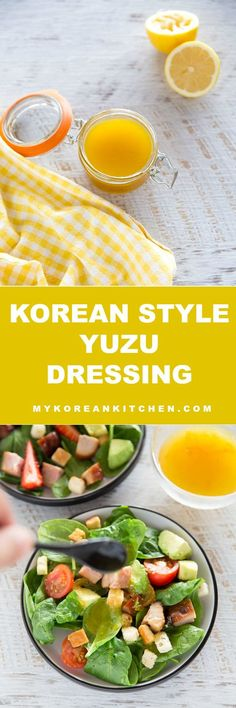 Light, tangy and sweet Korean style yuzu dressing recipe | MyKoreanKitchen.com