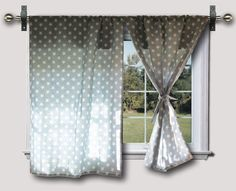 blue and white star curtains