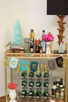 Around My Home: Retro Glam Holiday Decor