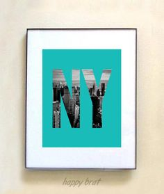New York,Cityscapes,Photo Print, Aquamarine-'Modern Prints' 8 x 10  wall art -Turquoise. $14.00, via Etsy.