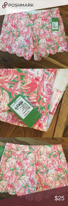LILLY PULITZER BUTTERCUP SHORT Size 000. NWT. Waste from side to side lying flat measures approx 14 inches and the length from top to bottom is approximately 11.5 inches Lilly Pulitzer Shorts