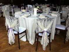 Vintage Lace Style http://www.weddingmarket.co.uk/goods-for-hire/chair-covers-sashes-and-event-dressing/