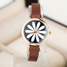 Braun+Floral+Leder+Uhren,Damen+Armbanduhr+von+Sexy+Sugar+auf+DaWanda.com
