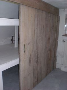 closet space with sliding doors - for the bedroom? *unable to find source* House, Indoor Design, Home, Garage Guest House, Home Bedroom, New Homes, Attic Rooms, House Interior, Home And Living