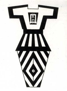 Design for Sports Clothing by Stepanova, 1923