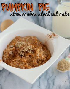 Pumpkin Pie Slow Cooker Steel Cut Oats   RachelCooks.com
