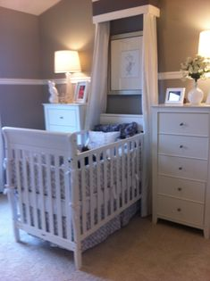LOVE this look!  Maybe more space between the dressers and crib, but otherwise, LOVE!