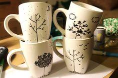 BEAUTY & THE BEARD: 4 seasons mugs