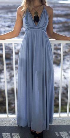 Sea Breeze Blue Maxi Dress Pinterest @shopamazinglace http://www.amazinglace.com/