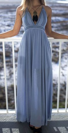 Sea Breeze Blue Maxi Dress Pinterest @shopamazinglace http://www.amazinglace.com/