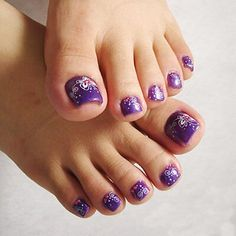 Nail, art, pedicure