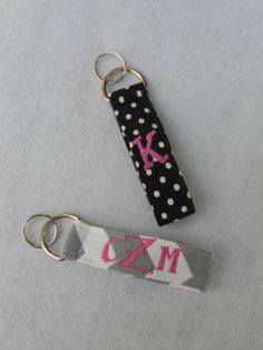 Monogrammed Keychains  Choose Your Fabric & by AdornmentsbyTM, $8.00