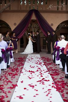 Wine colors over wedding ceremony