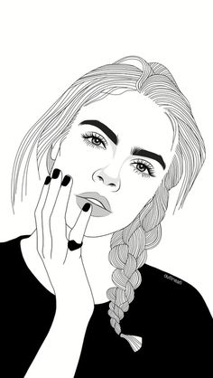 Fascinare: A Graphic Portfolio by Luhveli - Aesthetic Outline Edits - Wattpad Tumblr Girl Drawing, Tumblr Drawings, Girl Drawing Sketches, Cute Girl Drawing, Girly Drawings, Girl Sketch, Tumblr Outline, Outline Art, Outline Drawings