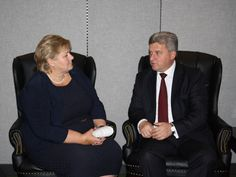President Ivanov with Norway Prime Minister Erna Solberg