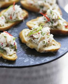 Low FODMAP Recipe and Gluten Free Recipe - Crab, lime & chili toasts http://www.ibssano.com/low_fodmap_recipe_crab_chili_lime.html