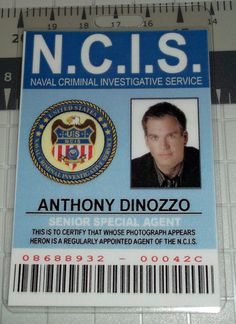 """NCIS Very Special Agent Anthony Dinozzo """"Senior Special Agent"""" ID"""