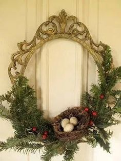 56 Excellent Christmas Wearth Decoration For Your Door. Flowers play a significant role in Christmas decorations, all over the world. Christmas Poinsettia, Christmas Frames, Simple Christmas, Vintage Christmas, Christmas Holidays, Christmas Wreaths, Beautiful Christmas, Xmas, Front Door Christmas Decorations