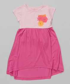 Love this Tickled Pink & Peony Hi-Low Dress - Toddler & Girls on #zulily! #zulilyfinds