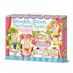 The Wooden Spoon Fairy Puppet Theater is a fun arts and crafts project that results in an end product that can be used over and over again. Everything you need to make three wooden spoon fairies and make and decorate a puppet theater is included.