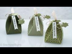 "Herbstliche Geschenkverpackung ""Kürbis"" mit Stampin'Up!® cm+inch - YouTube Stampin Up Weihnachten, Treat Holder, 3d Cards, Scrapbooking, Little Boxes, Stamping Up, Quilling, Goodies, Reusable Tote Bags"