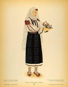 Traditional Art, Traditional Outfits, Folk Costume, Costumes, Folk Fashion, High Waisted Skirt, Folk Style, Moldova, Embroidery