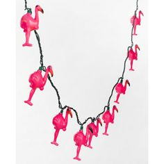 Plastic Flamingo Light Set LOVE LOVE LOVE
