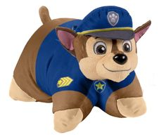 Pillow Pets has teamed up with Nickelodeon to bring you your favorite Paw Patrol character Chase! The popular series, Paw Patrol, is a CG-animated, action-adventure preschool series starring a pack of