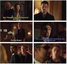 Arrow - Oliver, Slade, Thea & Roy #2.15 #Season2....you could feel the tension during this scene