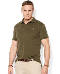 Polo Ralph Lauren Big and Tall Pima Soft-Touch Interlock Polo