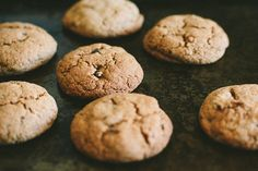 gluten-free chocolate chunk cookies by My Darling Lemon Thyme (could be made vegan by using an egg replacer)