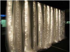 Line that drape with string lights and it will light up the fabric when the lights are dim. Description from christmasdesigners.com. I searched for this on bing.com/images