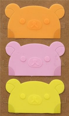 Rilakkuma bear head divider sheets for Bento Box Lunch Box  #rilakkuma #cute #bento