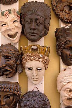 Greece, Athens, Masks