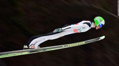 Slovenian ski jumper Peter Prevc competes during the Ski Jumping World Cup event in Planica, Slovenia