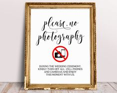 Please No Photography During The Wedding Ceremony, Wedding Signs, Unplugged Ceremony Sign, Unplugged Wedding Sign, Wedding Decor Sign Unplugged Wedding Sign, Wedding Hashtag Sign, Wedding Signs, Ceremony Signs, Reception Signs, Wedding Ceremony, Spelling And Grammar, Guest Book Sign, Signature Cocktail