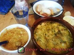 Garnalen, soep & brood