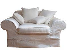 Cedar Point Love Seat in cotone bianco sfoderabile.... in offerta due pezzi al prezzo di uno!!!! 1800euro arrotondiamo e fuori tutto !!