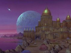 """Matte Painting of Rigel VII (""""The Cage"""", TOS: """"The Menagerie, Part II"""") - http://www.ex-astris-scientia.org/inconsistencies/planets/rigelvii-thecage.jpg"""
