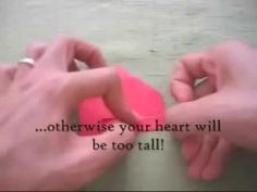 Simple Money Origami Heart Instructions
