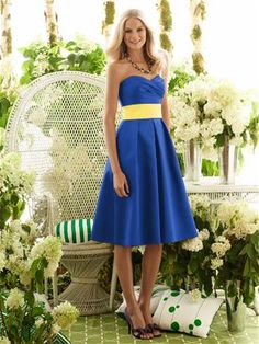 After Six Bridesmaid Style 6553 http://www.dessy.com/dresses/bridesmaid/6553/ Sapphire and Sunflower