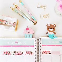 How beautiful is this photo? Love how @therachmark uses my Mermaid and Cupcake Clips in her planner! Also love how she loves floral too #PlanWithAngel #TheAngelShoppe